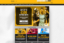 Betfair welcome page